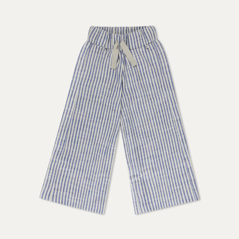 Repose AMS Striped Kid's Woven Culotte Sand/Blue Stripe | BIEN BIEN | www.bienbienshop.com