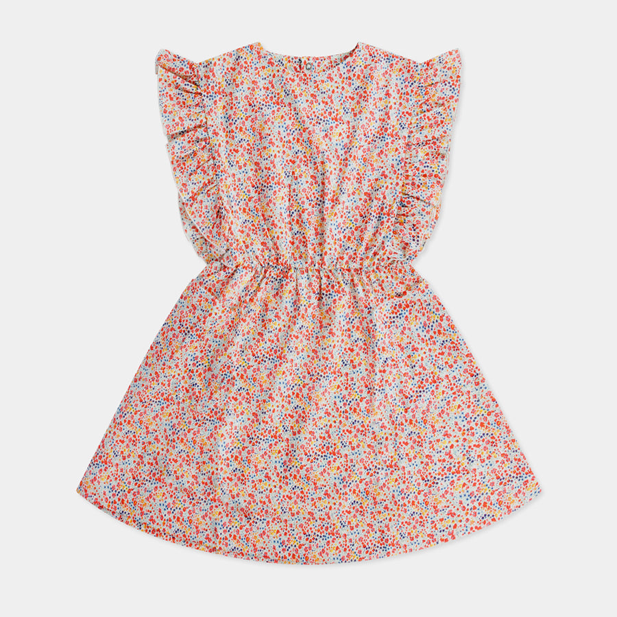 Repose AMS Misty Ruffle Girl's Dress Liberty Flower | BIEN BIEN | www.bienbienshop.com