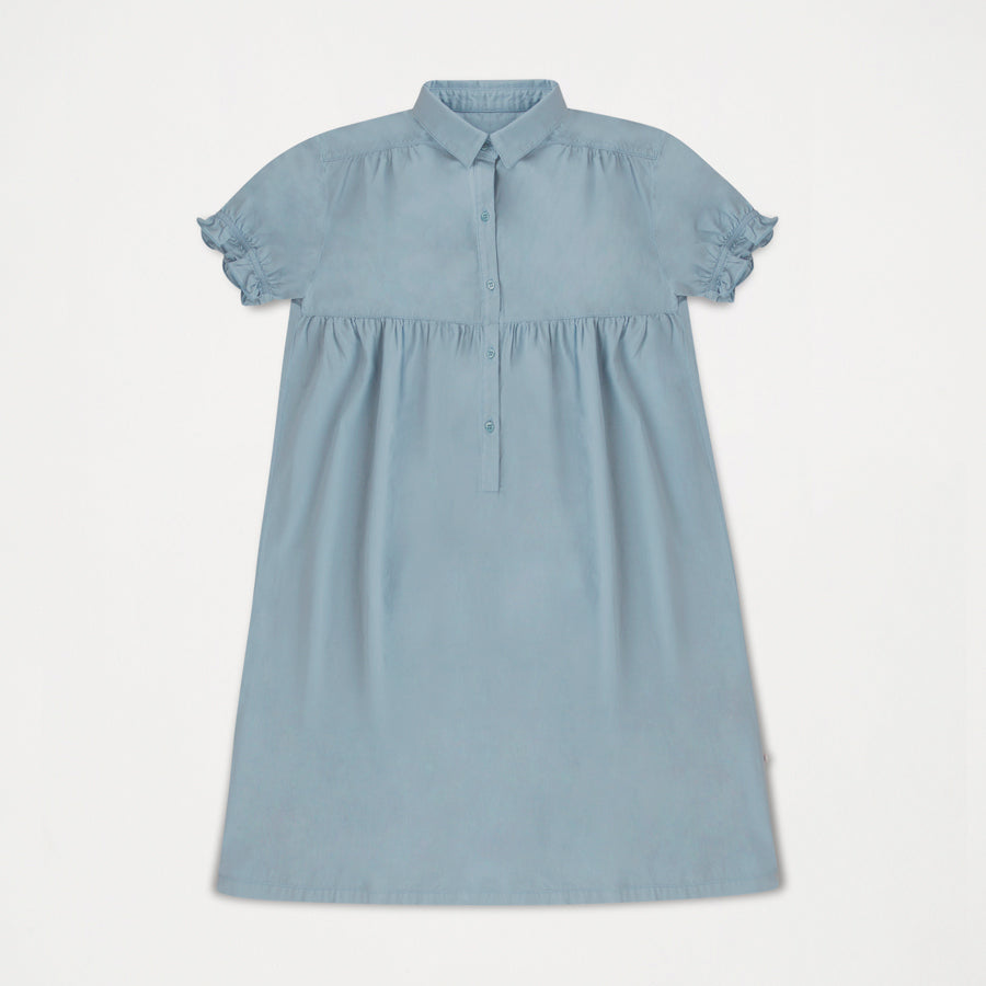 Repose AMS Dreamy Girl's Shirt Dress Ironlike Bleuish | BIEN BIEN
