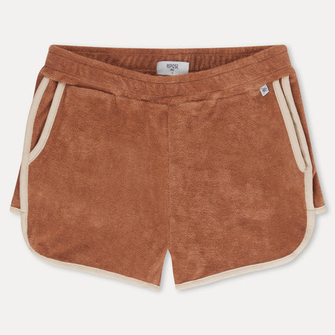 Repose AMS Sporty Kid's Organic Terry Short Warmed Caramel | BIEN BIEN | www.bienbienshop.com