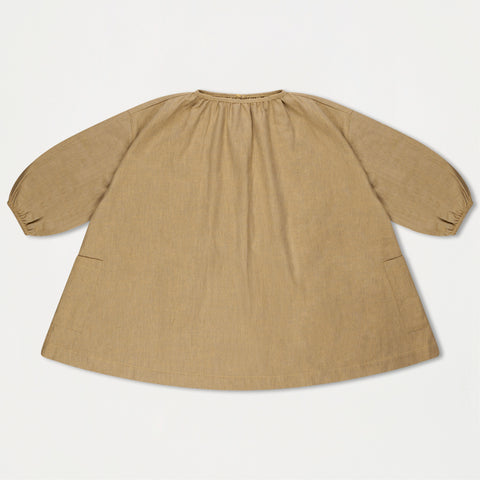 Repose AMS Girl's Flannel Tent Dress Soft Greyish Yellow | BIEN BIEN www.bienbienshop.com