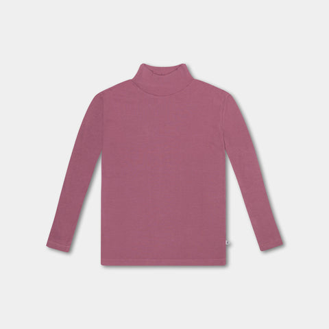 Repose AMS Unisex Kid's Turtleneck Shirt Antique Mauve | BIEN BIEN www.bienbienshop.com