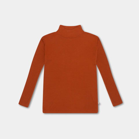 Repose AMS Unisex Kid's Turtleneck Shirt Warm Hazel | BIEN BIEN www.bienbienshop.com