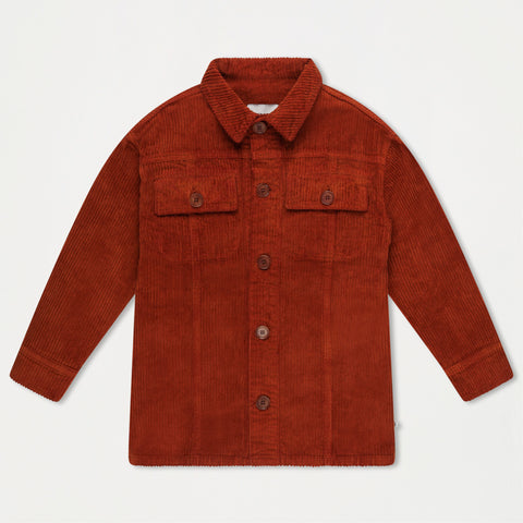 Repose AMS Unisex Kid's Buttondown Cord Shirt Warm Hazel | BIEN BIEN www.bienbienshop.com