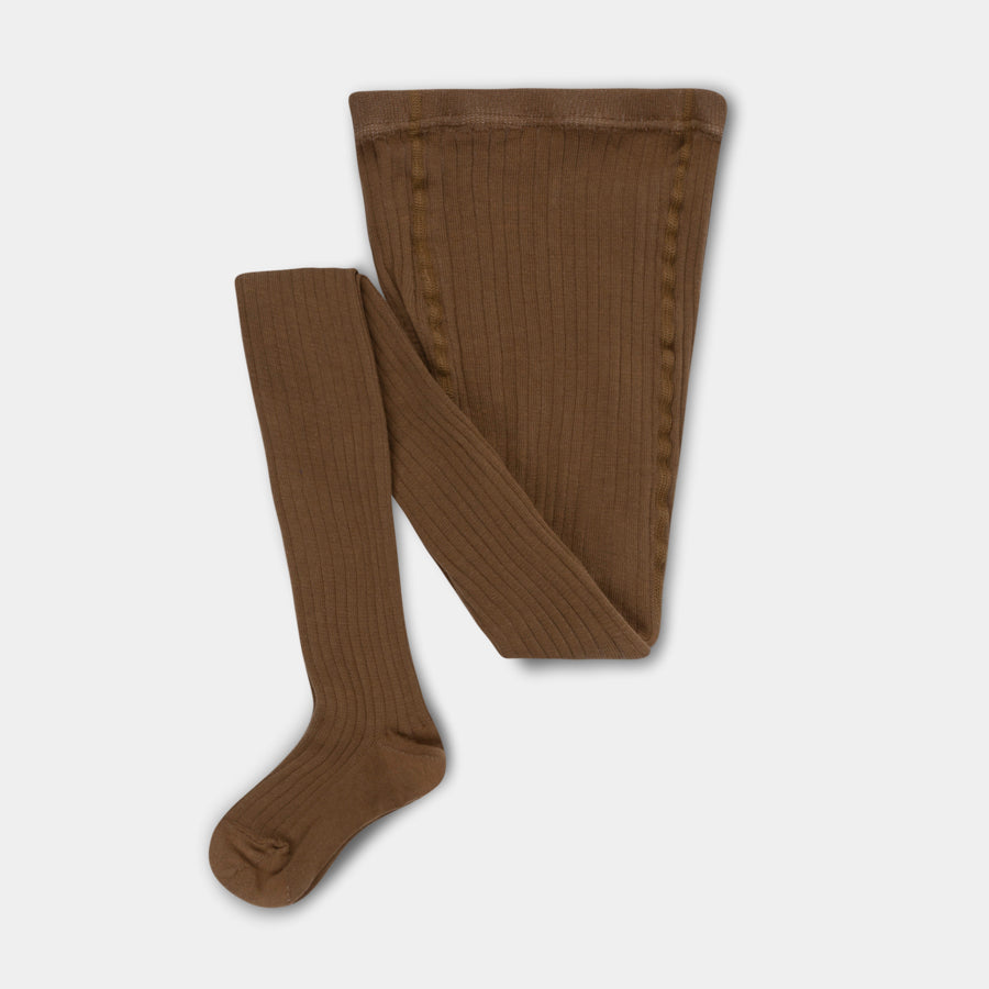 Repose AMS Amsterdam Kid's Ribbed Cotton Tights Dark Olive | BIEN BIEN www.bienbienshop.com