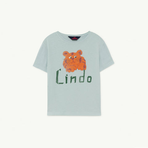 The Animals Observatory Rooster Kid's Tee Blue Lindo Orange Tiger NEW | BIEN BIEN