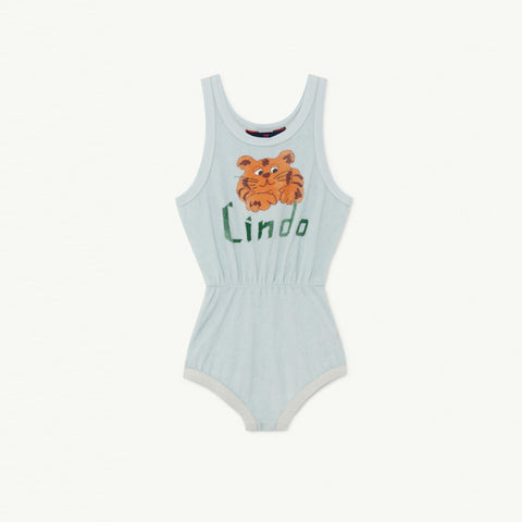 The Animals Observatory Squirrel Kid's Bodysuit Light Blue Lindo NEW | BIEN BIEN
