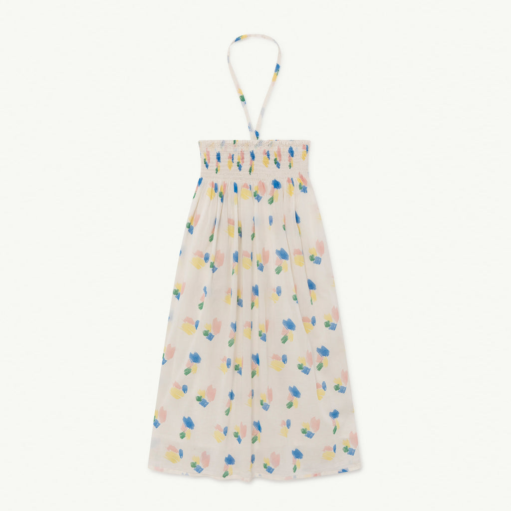 The Animals Observatory Crab Kid's Dress White Brush Strokes NEW | BIEN BIEN bienbienshop.com