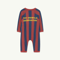 The Animals Observatory Owl Baby Jumpsuit Red/Navy Stripes NEW | BIEN BIEN
