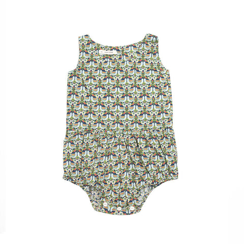 Soor Ploom Lois Baby Girl Romper in Blue Chicken | BIEN BIEN
