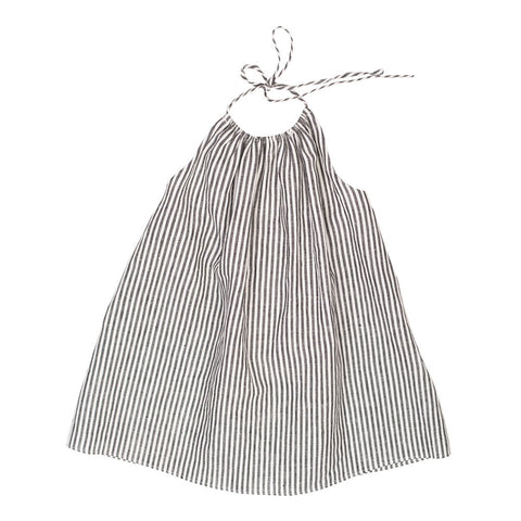 Soor Ploom Iona Baby & Girl's Dress in Ticking Stripe Linen | BIEN BIEN