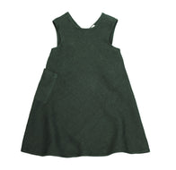 Soor Ploom Willow Baby & Girl's Dress in Fern Linen | BIEN BIEN