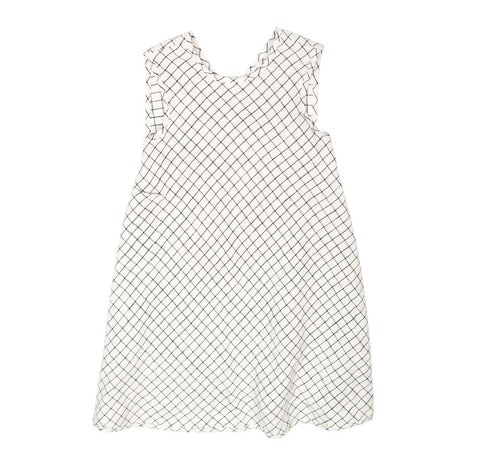 Soor Ploom Willow Baby & Girl's Dress in Graph Paper Linen | BIEN BIEN