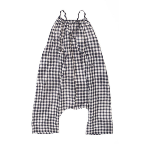 Soor Ploom Ines Baby Girl Romper in Gingham Seersucker | BIEN BIEN
