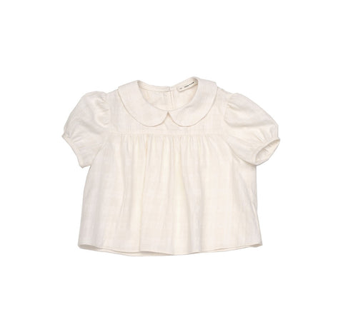 Soor Ploom Nellie Baby & Girl's Blouse in Whiteout Plaid | BIEN BIEN
