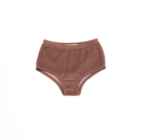 Soor Ploom Louise Girl's Trunks in Henna Terry | BIEN BIEN