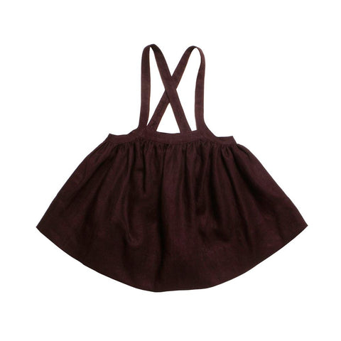 Soor Ploom Baby & Girl's Eloise Dress in Claret Linen | BIEN BIEN