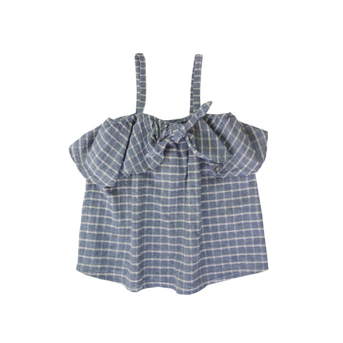Nico Nico Sukey Knot Girl's Camisole Top in Chambray | BIEN BIEN
