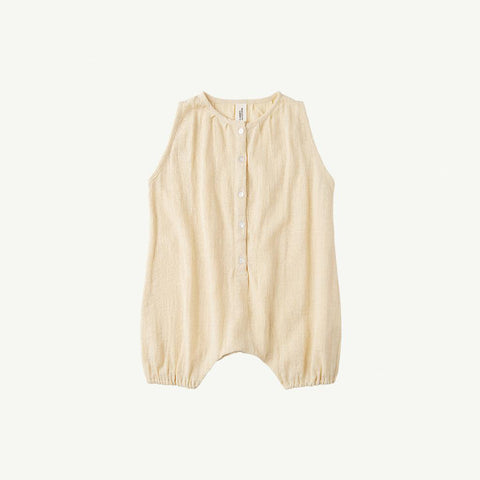 Summer & Storm Baby Sleeveless Romper Cotton Butter Yellow | BIEN BIEN