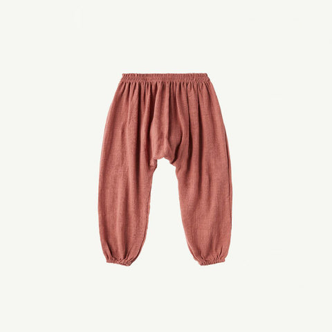 Summer & Storm Baby Harem Pant Cotton Dusty Rose | BIEN BIEN