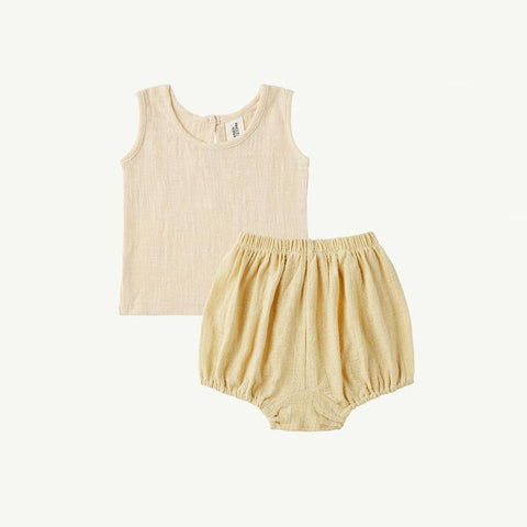 Summer & Storm Baby Singlet & Bloomer Set Mellow Yellow | BIEN BIEN
