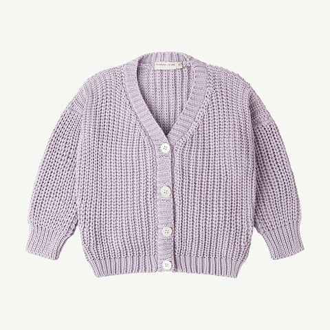Summer & Storm Chunky Cotton Cardigan Sweater Lavender Baby & Kid | BIEN BIEN bienbienshop.com