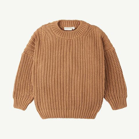 Summer & Storm Chunky Cotton Pullover Sweater Tan | BIEN BIEN bienbienshop.com