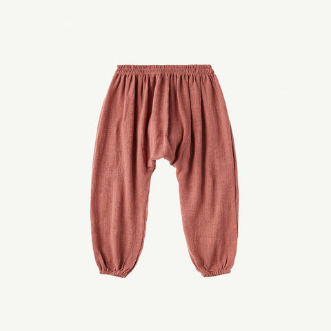 Summer & Storm Kid's Harem Pant Cotton Dusty Rose (Blush) | BIEN BIEN