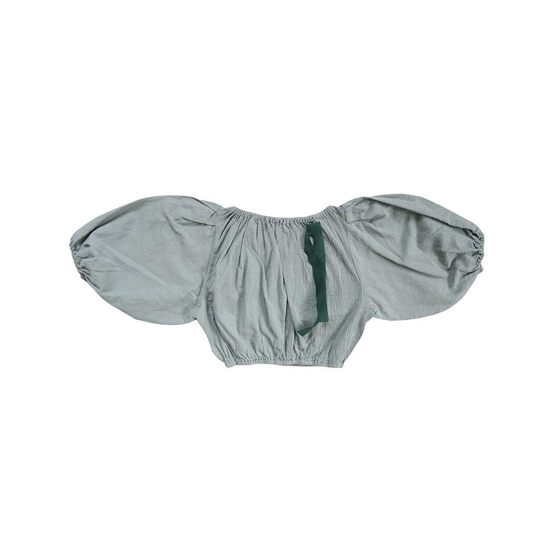 Tambere Lil Puff Sleeve Girl's Blouse Light Grey | BIEN BIEN www.bienbienshop.com