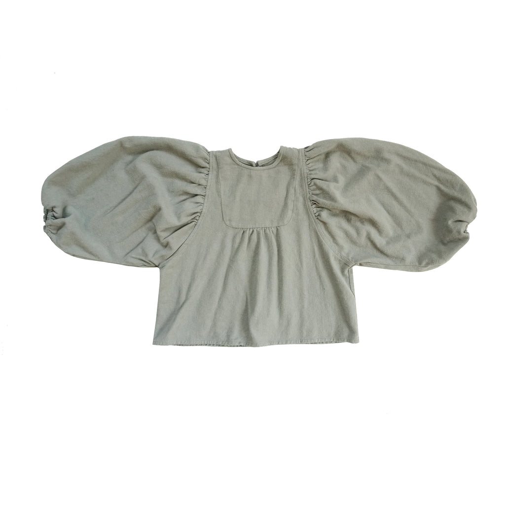 Tambere Shell Kid's Blouse Light Gray | BIEN BIEN