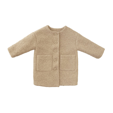 Tambere Shearling Kid's Coat in Cream | BIEN BIEN