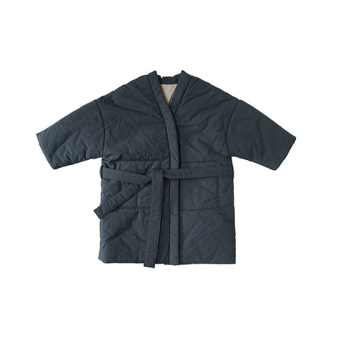 Tambere Padded Kid's Overcoat in Navy Blue | BIEN BIEN