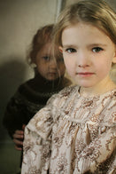 Tambere Luigi Kid's Puff Sleeve Dress Brown Toile | BIEN BIEN www.bienbienshop.com