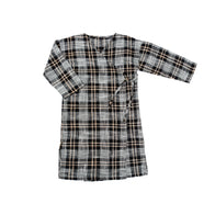 Tambere Plaid Girl's Dress in Black Check | BIEN BIEN