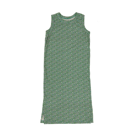 Tambere Kid's Tank Dress Green Floral Cotton | BIEN BIEN www.bienbienshop.com