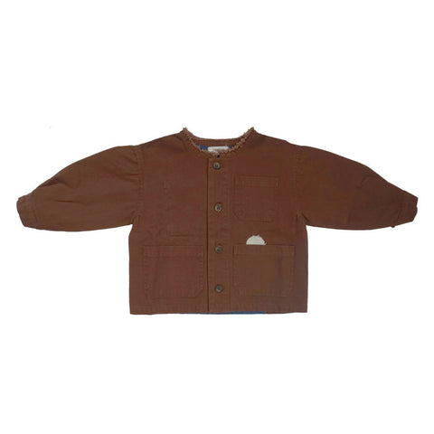 Tambere Brodo Unisex Kid's Patch Work Jacket Choco Brown | BIEN BIEN www.bienbienshop.com