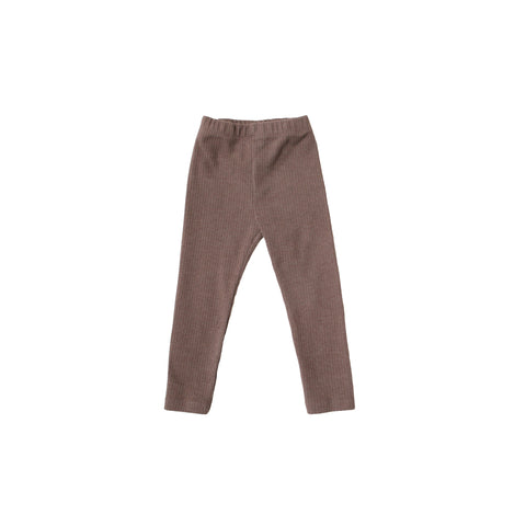 Tambere Core Ribbed Kid's Leggings in Light Brown  | BIEN BIEN