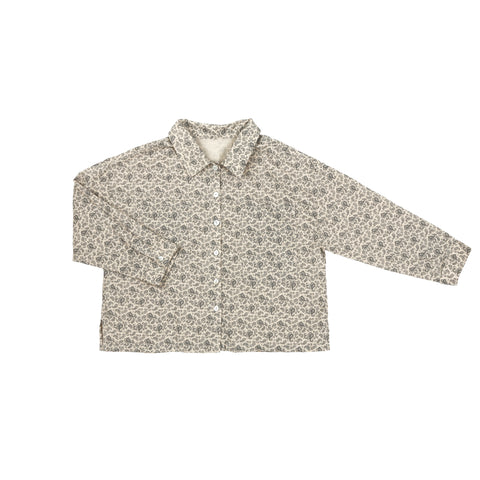 Tambere Becky Kid's Buttondown Shirt Beige Paisley Cotton | BIEN BIEN www.bienbienshop.com