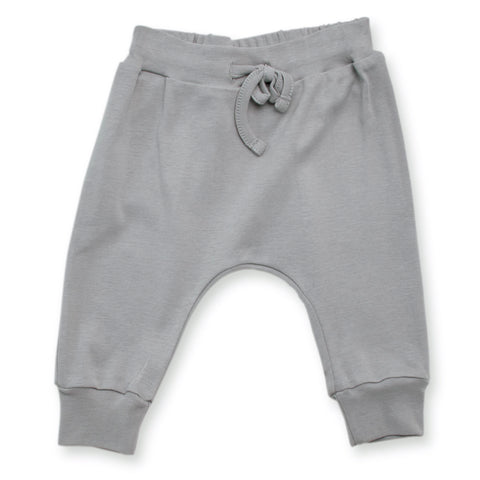 Tane Organics Rounded Organic Cotton Baby Pants in Fog | BIEN BIEN