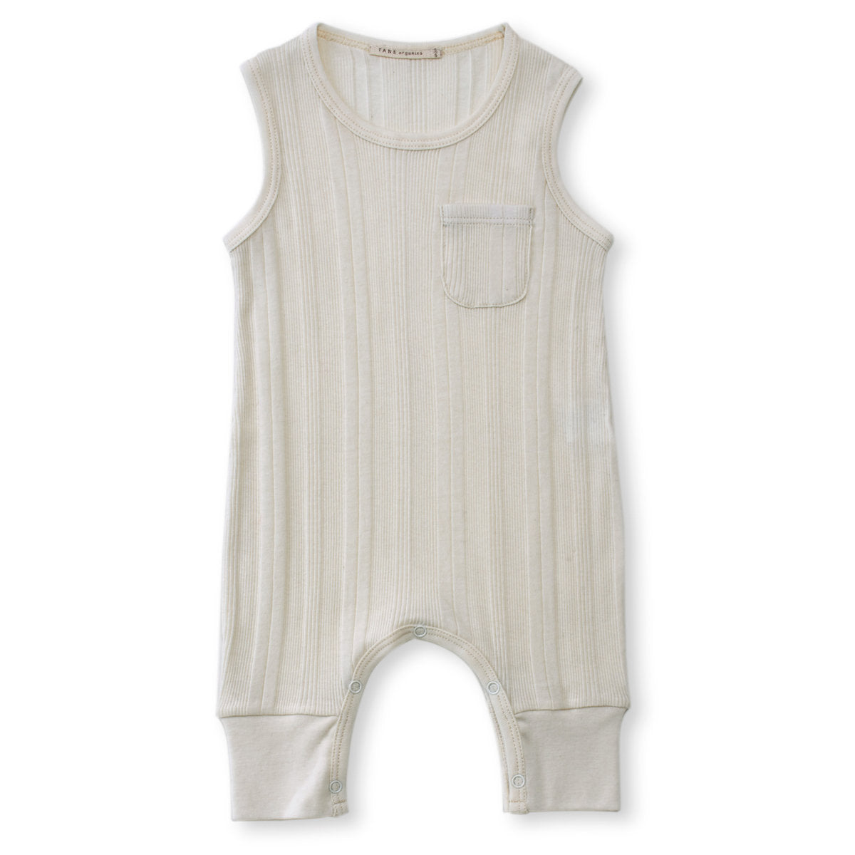 Tane Organics One Pocket Baby Sleeveless Romper in Ecru | BIEN BIEN