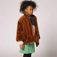 The Animals Observatory Firefly Girl's Skirt in Green Dots | BIEN BIEN