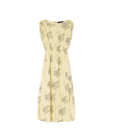 The Animals Observatory Marten Girl's Dress in Soft Yellow Kid's Museum | BIEN BIEN