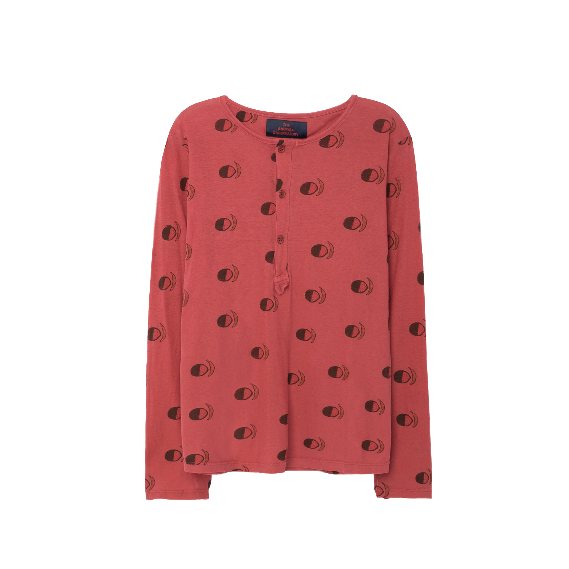 The Animals Observatory Deer Kid's T-Shirt in Maroon Fruit | BIEN BIEN