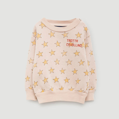 The Animals Observatory Bear Baby Sweatshirt Yellow Star | BIEN BIEN