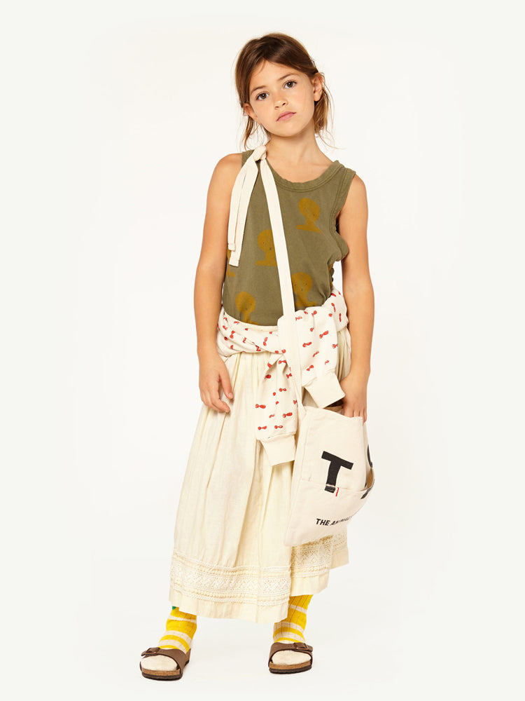 The Animals Observatory Canvas Kid's Apron in Raw White | BIEN BIEN