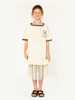 The Animals Observatory Whistler Kid's Blouse in Raw White | BIEN BIEN
