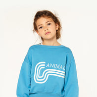 The Animals Observatory Bear Kid's Sweatshirt Blue Animals | BIEN BIEN