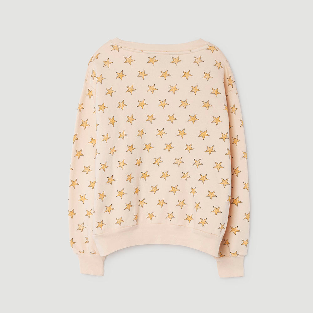 The Animals Observatory Bear Kid's Sweatshirt in Yellow Star | BIEN BIEN