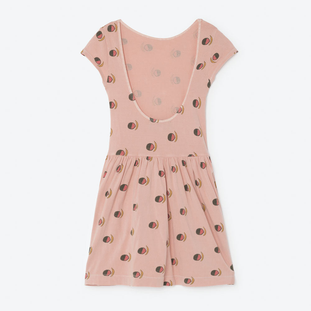 The Animals Observatory Sparrow Girl's Dress in Pink Fruit | BIEN BIEN