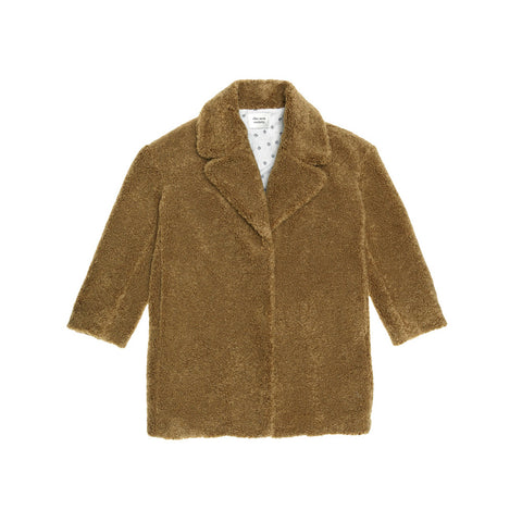 The New Society Freya Kid's Teddy Shearling Coat Camel | BIEN BIEN www.bienbienshop.com